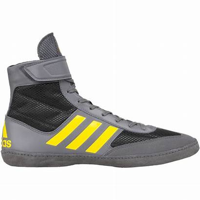 Combat Speed Adidas Yellow Wrestling Shoes Grey