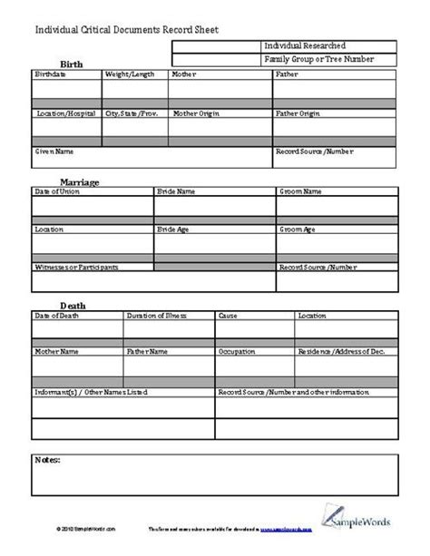 personal records organizer template 217 best images about family tree charts forms on family tree chart free family