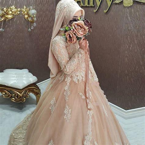 hijab style turkish islamic wedding dress  women robe