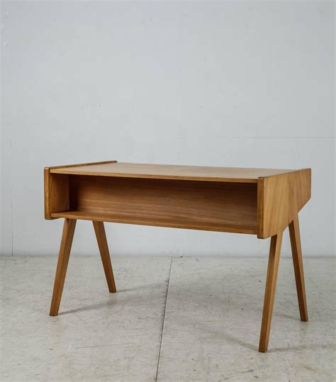 Small Wooden Desk For Sale by Helmut Magg Small Wooden Writing Desk Germany 1950s For