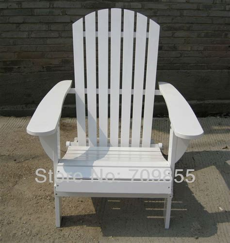 outdoor furniture adirondack chair white finish patio