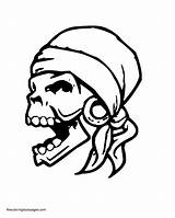Skull Coloring Pirate Pages Clip Halloween Skulls Printable Getcoloringpages Drawings Colouring Cliparts Library Clipart Flaming Reaper Illustration Easy sketch template