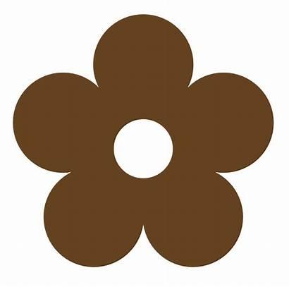 Brown Clipart Colour Flower Dark