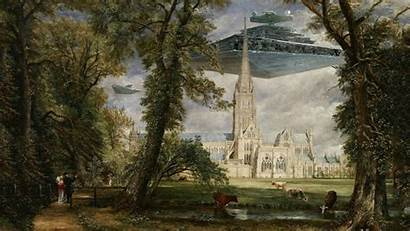 Constable John Cathedral Salisbury Paintings Painting Grounds