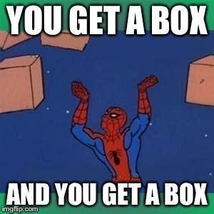 Make A Spiderman Meme - spiderman boxes imgflip