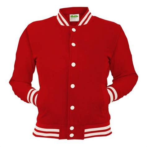 Red College Jacket Letterman Coat Baseball Top American