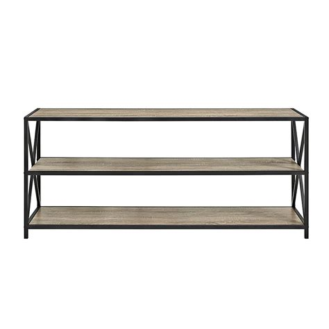 Bookshelf 25 Inches Wide by Walker Edison 60 Inch Wide X Frame Metal And Wood Media