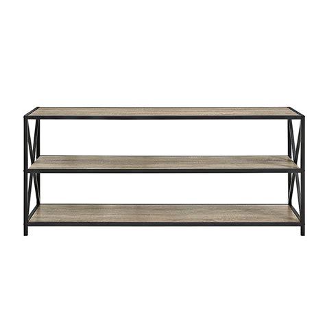 80 Inch Bookshelf by Walker Edison 60 Inch Wide X Frame Metal And Wood Media