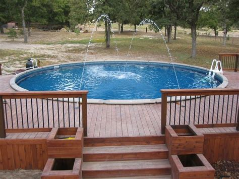 above ground pool round with deck sweet summertime