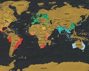 Carte Du Monde à Gratter Maison Du Monde : scratch map de luxe travel edition black luckies 5060146591768 reisboekwinkel de zwerver ~ Teatrodelosmanantiales.com Idées de Décoration