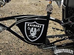 Custom Oakland Raiders Themed Schwinn Frame - Lowrider ...