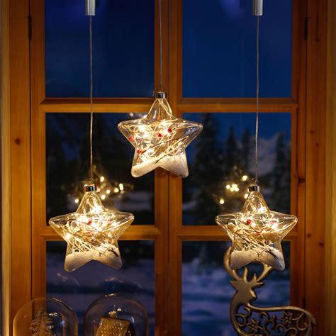Fensterdeko Weihnachten Led by Led Fensterdeko Schneestern 3er Set Kaufen Bei