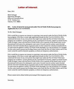 20 sample letter of interests pdf doc sample templates for Letter of interest format