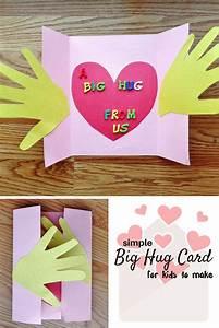 A Big Hug Card Craft for Kids - Munofore