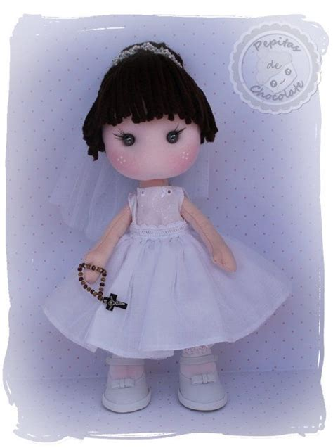 muneca comunion tela   communion doll fabric gh pepitas de chocolate gh pinterest dolls