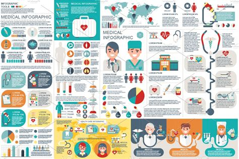 medical infographic elements  templates