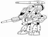Coloring Mechwarrior Rhino Stone Gauss Unseen Larger Credit Community Deviantart sketch template