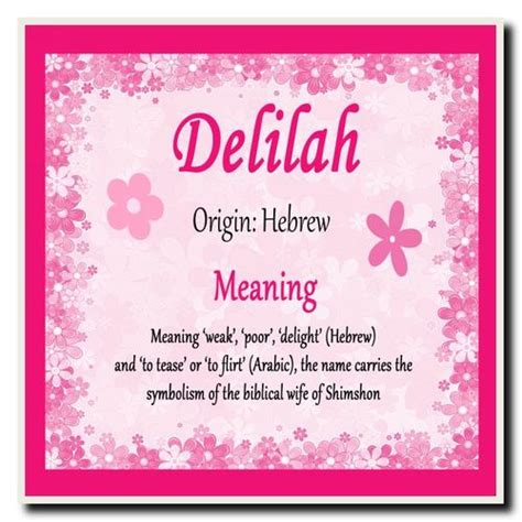 delilah personalised  meaning certificate  card zoo