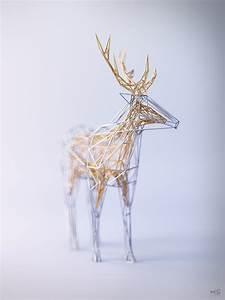 Elegant wireframe animal renderings by 3d artist mat for Elegant wireframe animal renderings by 3d artist mat szulik