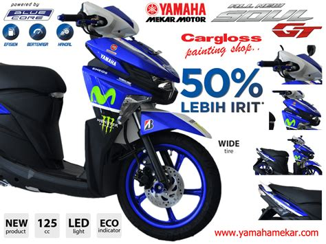 Modifikasi Mio Soul Blue by Modifikasi Motor Mio Soul Gt 125 Pecinta Modifikasi
