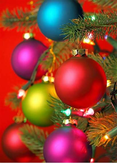 Christmas Colorful Ornaments Tree Wonderful Cold Wallpapers