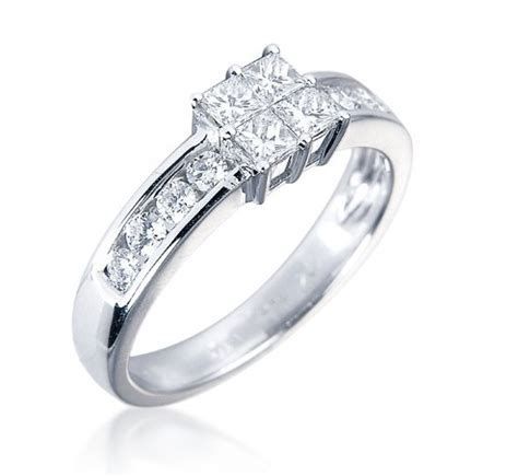wedding rings uk princess engagement ring 0 75ct 18k white gold contemporary rings rings