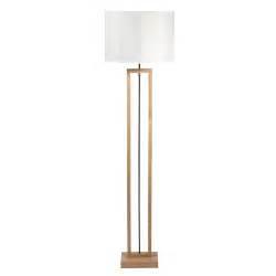 lampadaire en bois  coton blanc   cm long island maisons du monde