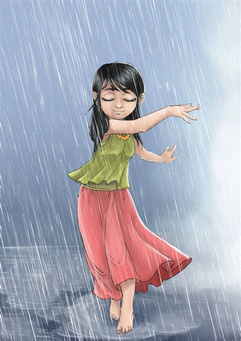 dancing   rain  niqwoz  deviantart girls