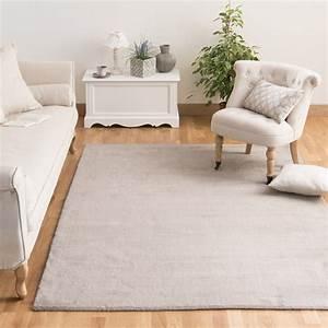 tapis a poils courts en laine taupe clair 140 x 200 cm With tapis salon clair