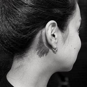 40+ Amazing Behind The Ear Tattoos For Women | Tattoo ...