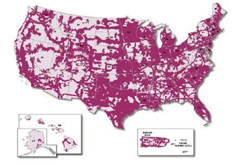 T-Mobile Phone Coverage Map USA