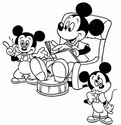 Mouse Mickey Plantillas Colorear Disney Informatico Pintar