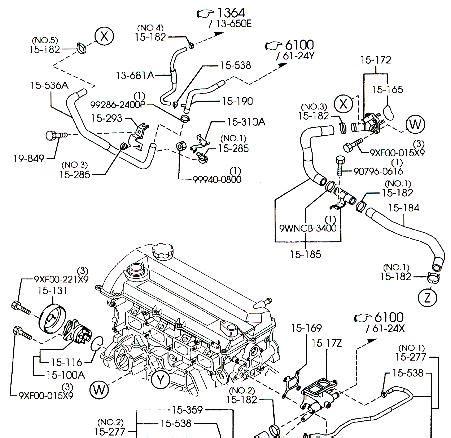 Mazda Engine Diagram Automotive Parts Images