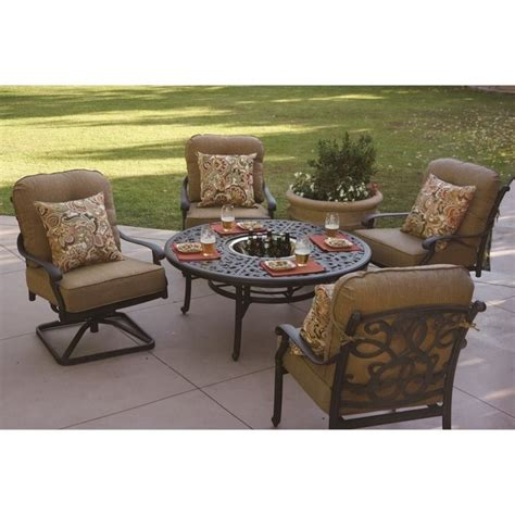 darlee patio furniture santa darlee santa 5 patio dining set in antique