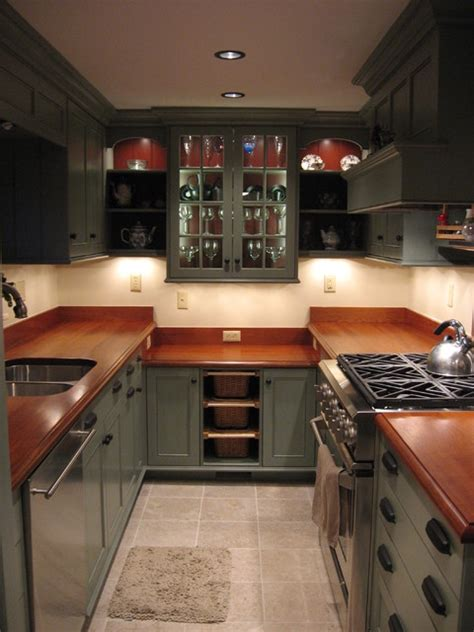 country galley kitchen traditional kitchen  york