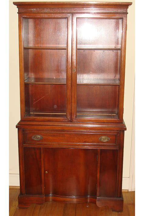 bernhardt mahogany china cabinet duncan phyfe dining room set buffet 2 drawers 2 doors 1