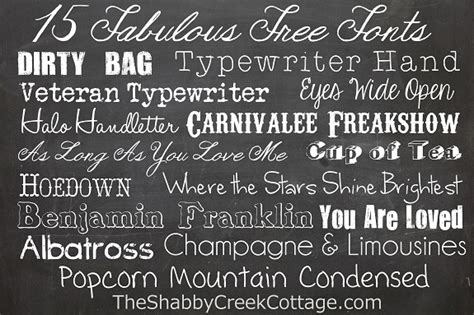 fonts    occasion  shabby creek