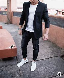 17 Best images about Menu0026#39;s Black Suits on Pinterest | Black blazers Tan pants and White sneakers