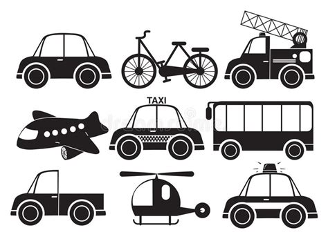 Different Type Of Vehicles Stock Vector. Illustration Of
