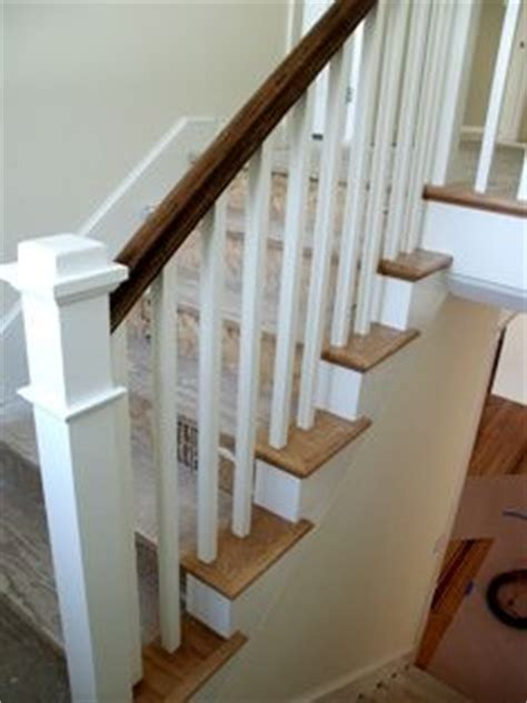 craftsman style stair railing stain and white craftsman stair railings i 6253