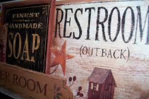 primitive bathroom wall decor plaque by ozarkmtnhomestead