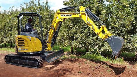 yanmar compact excavators civil engineering force  cc