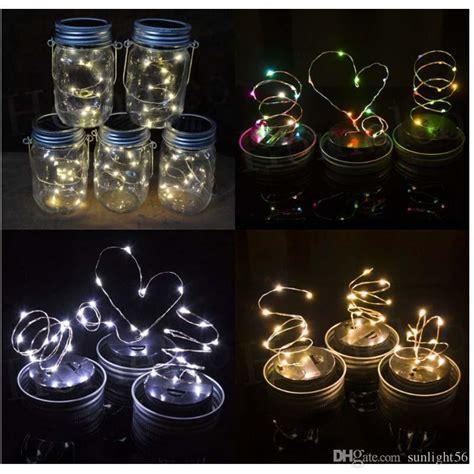 Solar Powered Led Mason Jars Light Up Lid 10 Led String