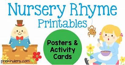 Nursery Rhyme Posters Printables Prekinders Rhymes Printable