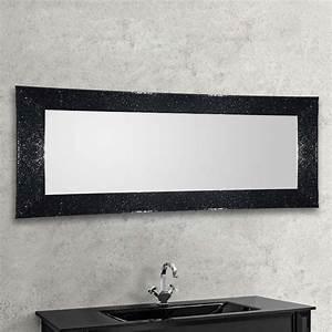 Miroir Cadre Noir : d couvrez nos miroirs clat de verre en 168x73 cm ~ Teatrodelosmanantiales.com Idées de Décoration