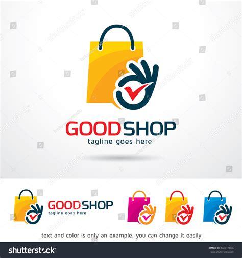 logo design template shop logo template design vector stock vector