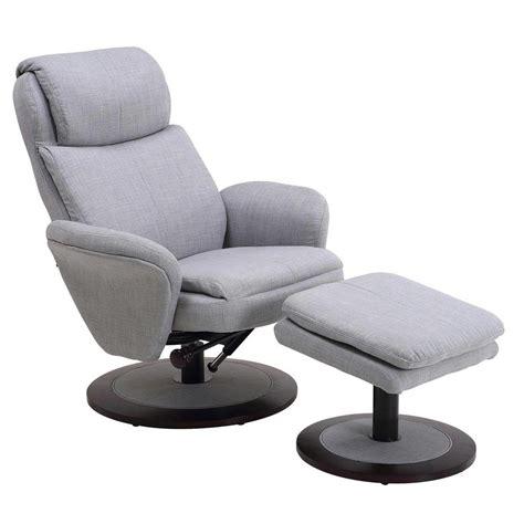 mac motion comfort chair light grey fabric swivel recliner