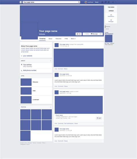 social media website mockups
