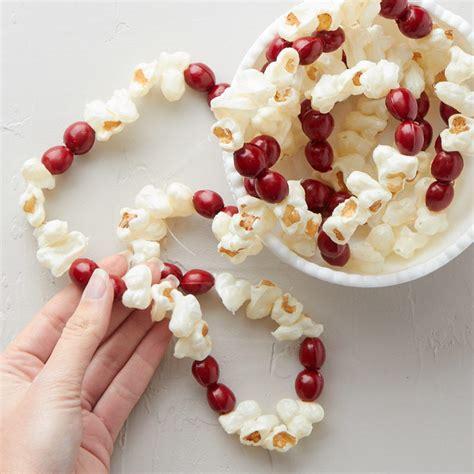 artificial popcorn  cranberry garland christmas