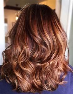Balayage Cheveux Bouclés : balayage cuivr cheveux chatains balayage cuivr le ~ Dallasstarsshop.com Idées de Décoration